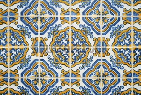 Portuguese glazed tiles 077 Stock photo © homydesign