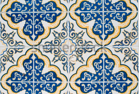Vintage spanish style ceramic tiles Stock photo © homydesign