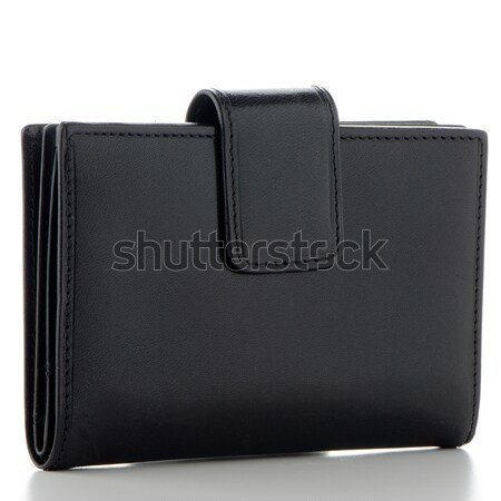 Black Leather Purse  Stock photo © homydesign