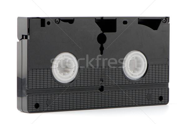 Starych wideo taśmy odizolowany biały telewizji Zdjęcia stock © homydesign
