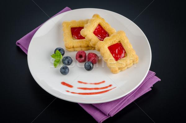 Strawberry  cookies Stock photo © homydesign