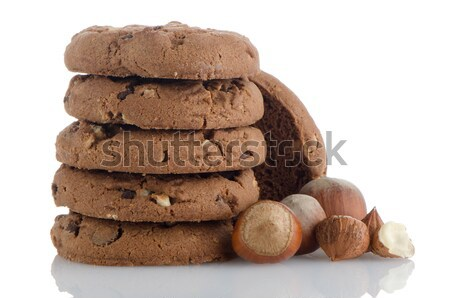 Stack of cookies Stock photo © homydesign