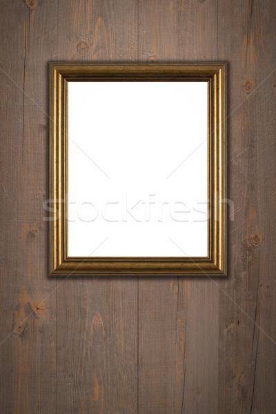 Oude fotolijstje vintage hout muur textuur Stockfoto © homydesign