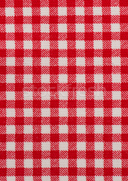 Rouge blanche nappe rayé alimentaire table Photo stock © homydesign