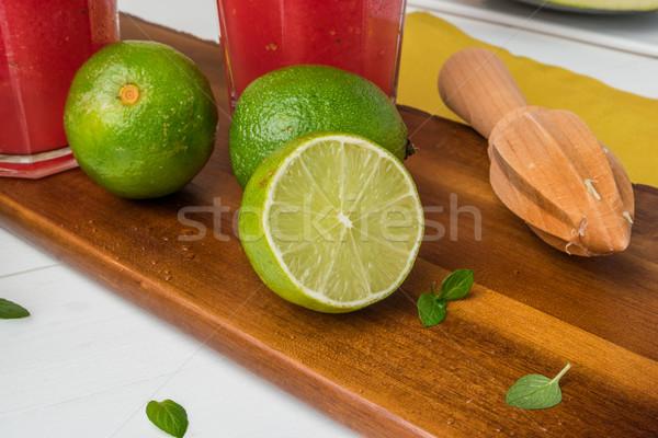 Fresh ripe limes Stock photo © homydesign