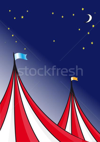 Cirque tente ciel de la nuit étoiles lune ciel Photo stock © homydesign