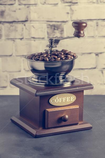 Manual café vintage mesa superior Foto stock © homydesign
