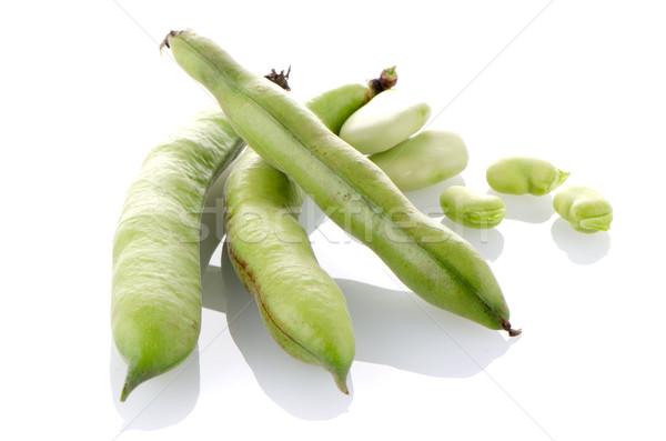 Groene bonen peul witte voedsel landschap keuken Stockfoto © homydesign