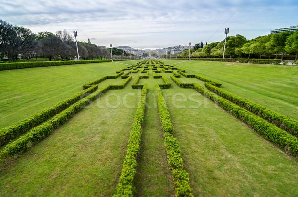 Stockfoto: Lissabon · park · hoofd- · tuin · rivier · horizon