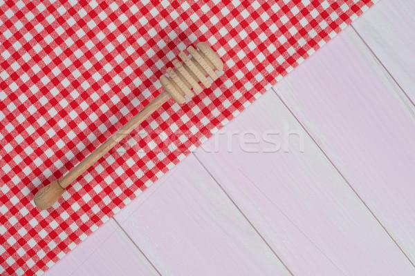 кухонные принадлежности красный полотенце белый Сток-фото © homydesign
