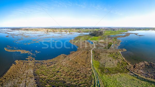 Aerial View of Esteiro da Tojeira Stock photo © homydesign