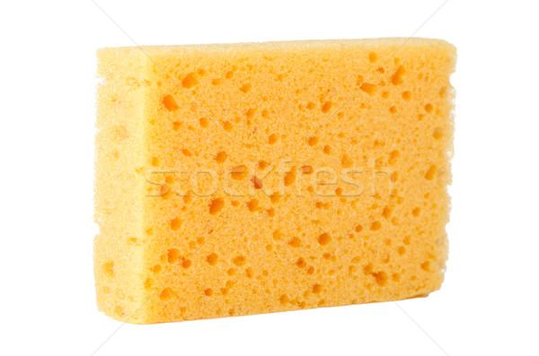 Geel spons natuurlijke cellulose geïsoleerd witte Stockfoto © homydesign