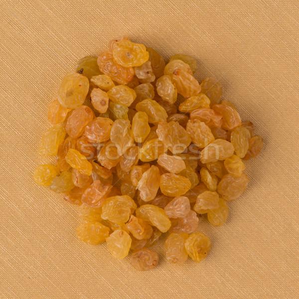 Daire altın kuru üzüm üst görmek sarı Stok fotoğraf © homydesign