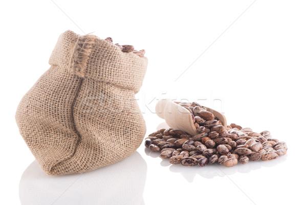Pinto beans bag Stock photo © homydesign