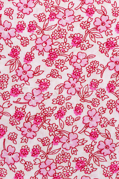 Fabric with floral patter Stock photo © homydesign