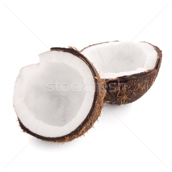 Coco isolado branco comida tropical doce Foto stock © homydesign