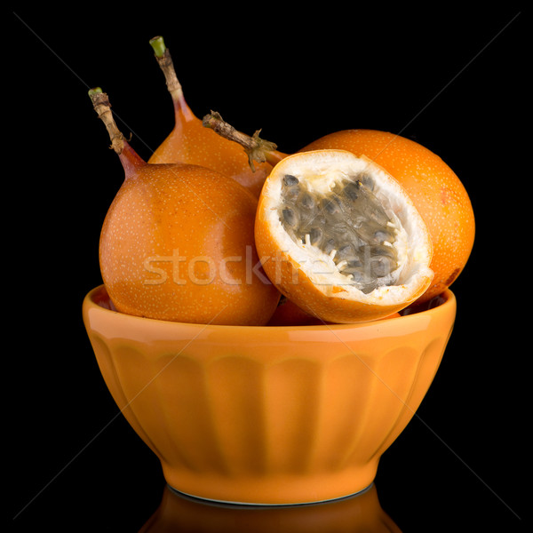 激情 水果 陶瓷 黃色 碗 黑色 商業照片 © homydesign