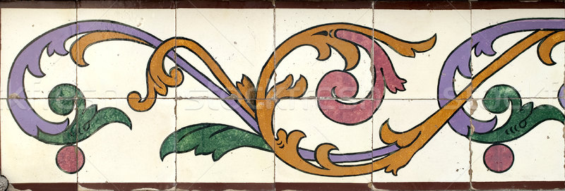 Portuguese glazed tiles 022 Stock photo © homydesign
