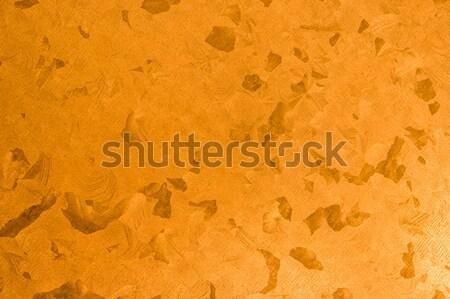 Narancs cink textúra közelkép absztrakt művészet Stock fotó © homydesign