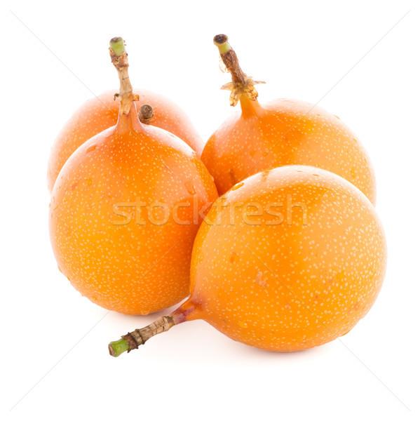 Tutku meyve doku gıda turuncu beyaz Stok fotoğraf © homydesign