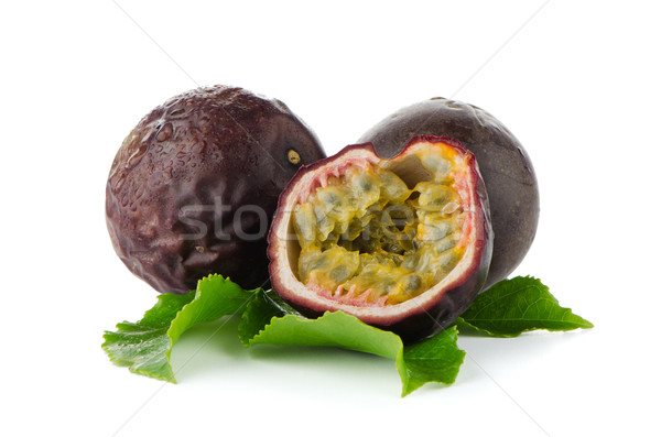Fresh passion fruit Stock photo © homydesign