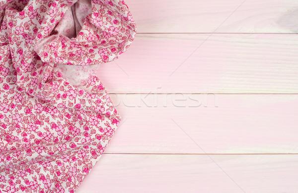 ピンク タオル 木製のテーブル 木製 台所用テーブル ストックフォト © homydesign