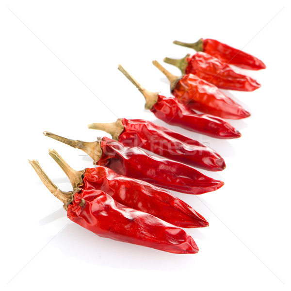Red chili peppers Stock photo © homydesign