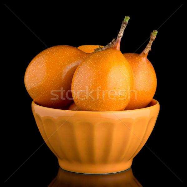 страсти фрукты керамической желтый чаши черный Сток-фото © homydesign