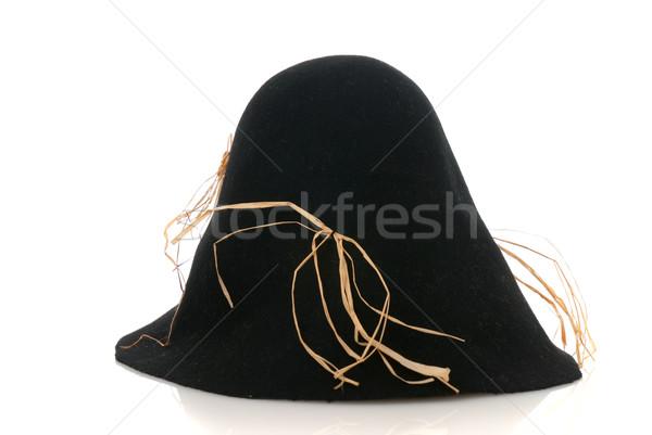 かかし 黒 帽子 わら 孤立した 白 ストックフォト © homydesign