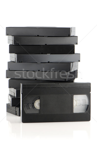 Pile of videotapes Stock photo © homydesign