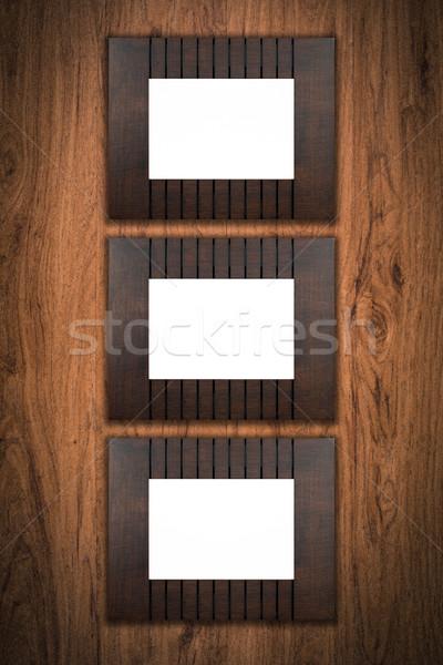 Vieux cadre photo vintage bois mur fond Photo stock © homydesign