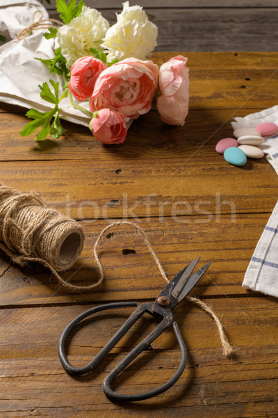 Old-fashioned scissors Stock photo © homydesign