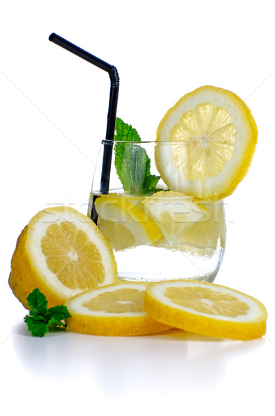 Glass of fresh cool drink Stock photo © homydesign