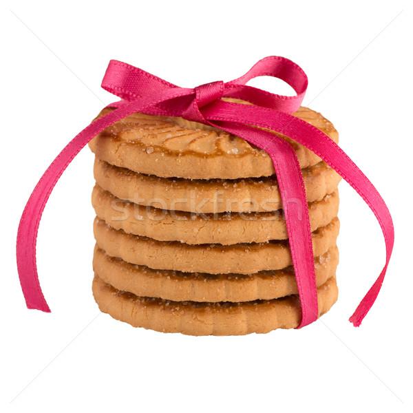 Сток-фото: кольцами · Печенье · изолированный · белый