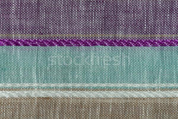 Colore tessuto texture primo piano dettaglio Foto d'archivio © homydesign