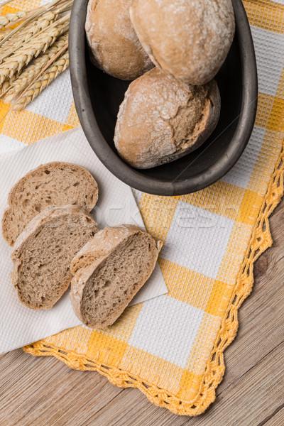 Bread rye spikelets Stock photo © homydesign