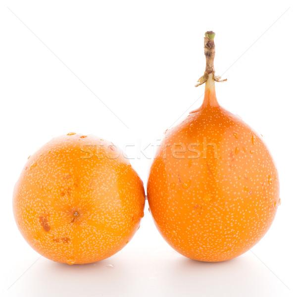 Tutku meyve gıda turuncu tropikal sarı Stok fotoğraf © homydesign