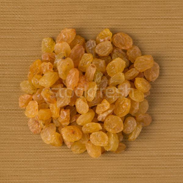 Kör arany mazsola felső kilátás citromsárga Stock fotó © homydesign
