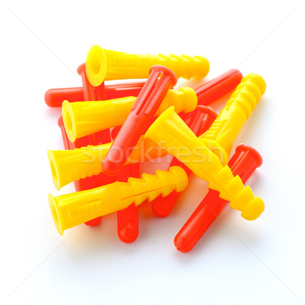 Colorful plastic dowels Stock photo © homydesign