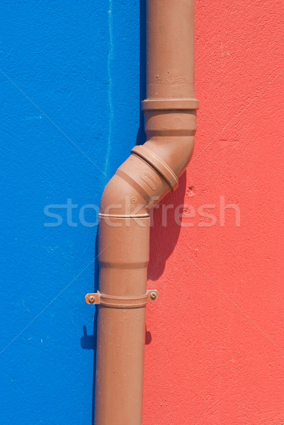 Fontanería tubería dos color pared resumen Foto stock © homydesign