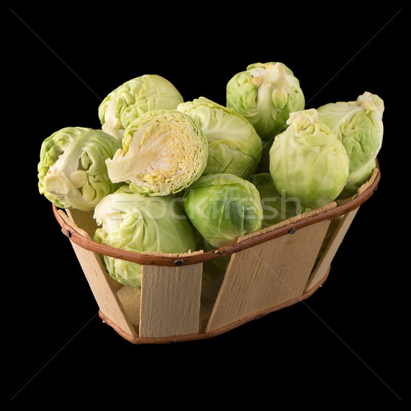 Fresh brussels sprouts Stock photo © homydesign