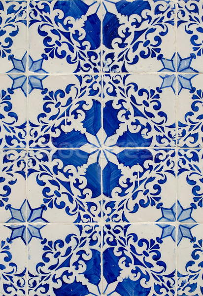 Traditional Portuguese glazed tiles Stock photo © homydesign