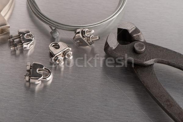 Stock fotó: Szerszám · drótok · fém · befejezés · munka · otthon