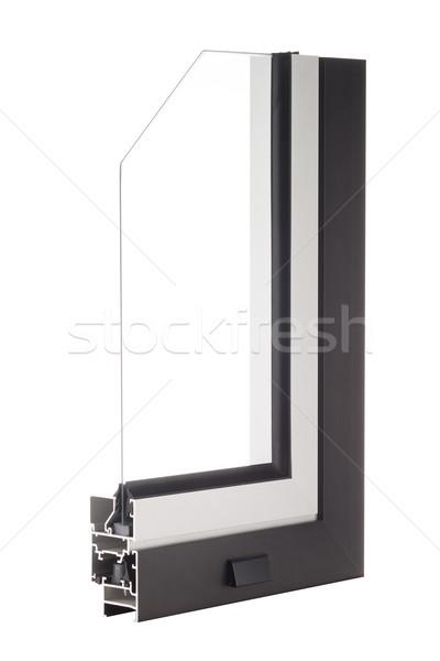 алюминий окна образец изолированный белый здании Сток-фото © homydesign