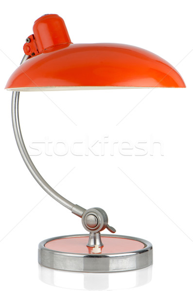 Retro orange table lamp Stock photo © homydesign