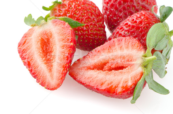 Apetitoso fresas blanco frutas rojo fresa Foto stock © homydesign