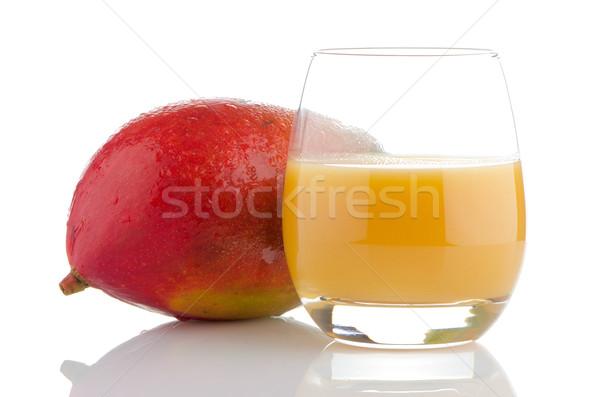 Fresco manga suco fruto branco Foto stock © homydesign