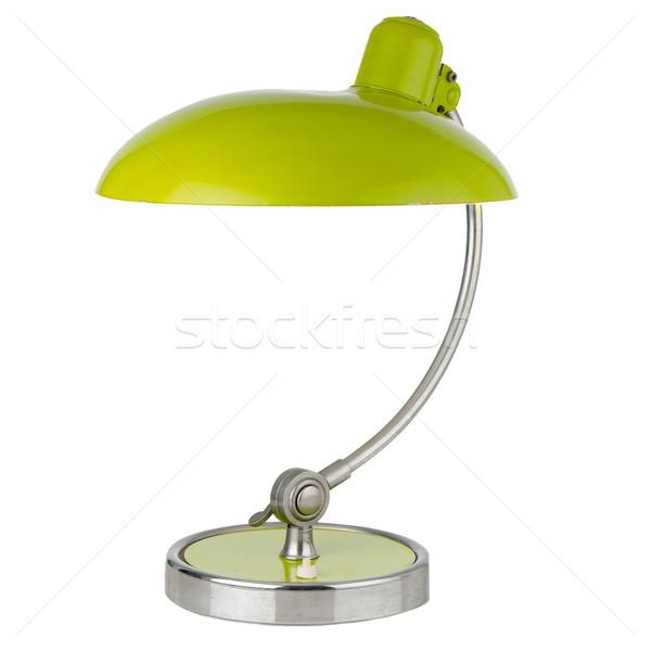 Retro green table lamp Stock photo © homydesign