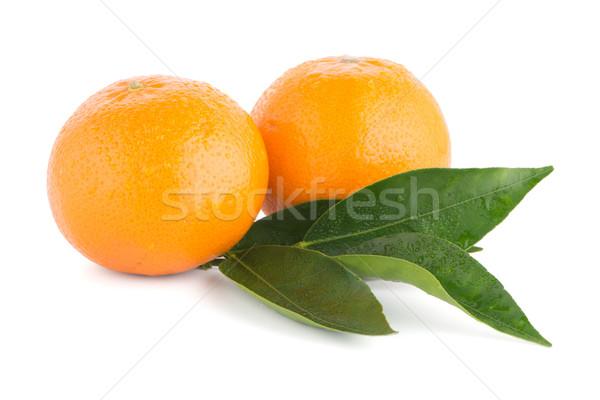 érett mandarin mandarin izolált fehér gyümölcs Stock fotó © homydesign