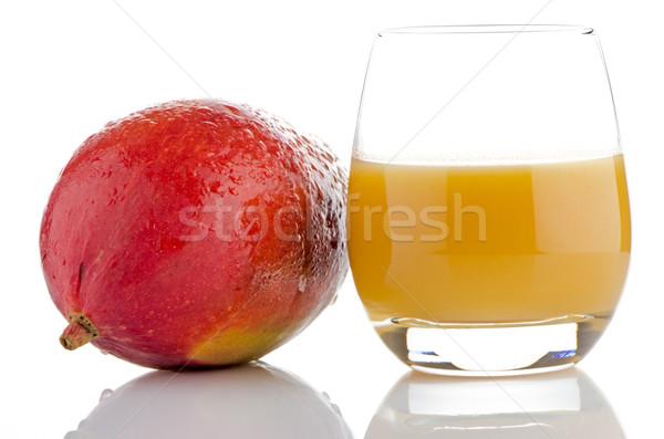 Fresh mango juice Stock photo © homydesign